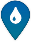 Drinking water project map marker symbol