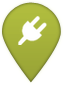 Renewable energy project map marker symbol
